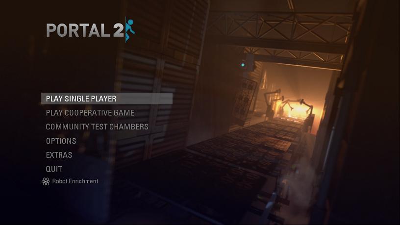 Portal 2 Menu